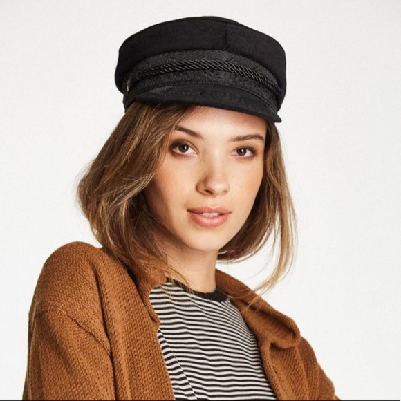 544b85def50b0 ... best price nwt brixton black corduroy albany paperboy hat 512cc 855b6